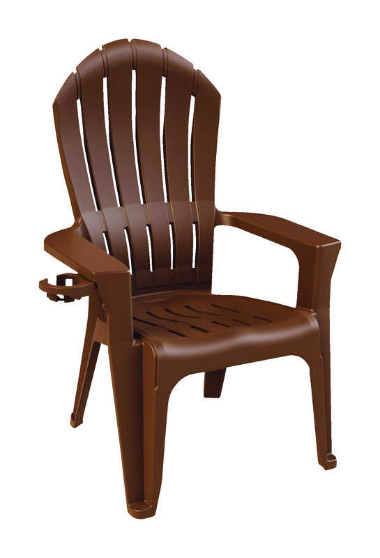Adams  Big Easy  Brown  Polypropylene  Adirondack  Chair