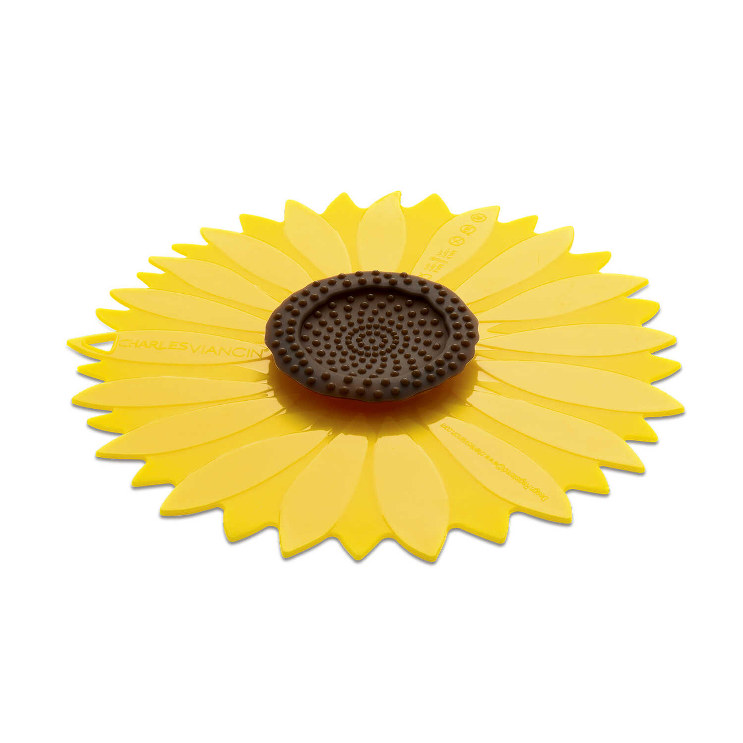Charles Viancin  11 in. L Yellow  Large Sunflower Lid