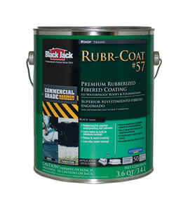 Black Jack  Rubr-Coat 57  Gloss  Black  Rubber  Roof Coating  1 gal.