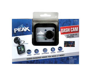 Peak  Dash Security Camera System  1 pk Universal  12 volts Black