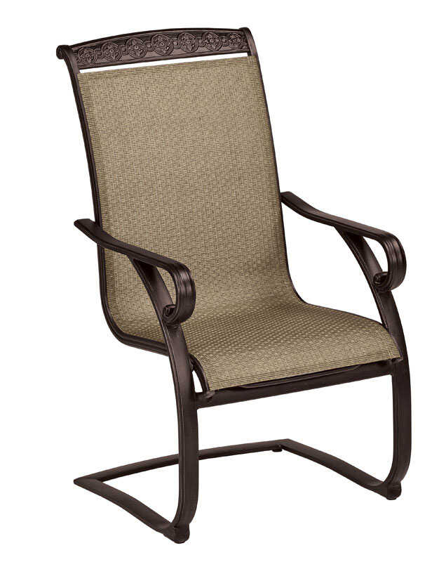 Living Accents  Spring Sling  Brown  Aluminum  Chair