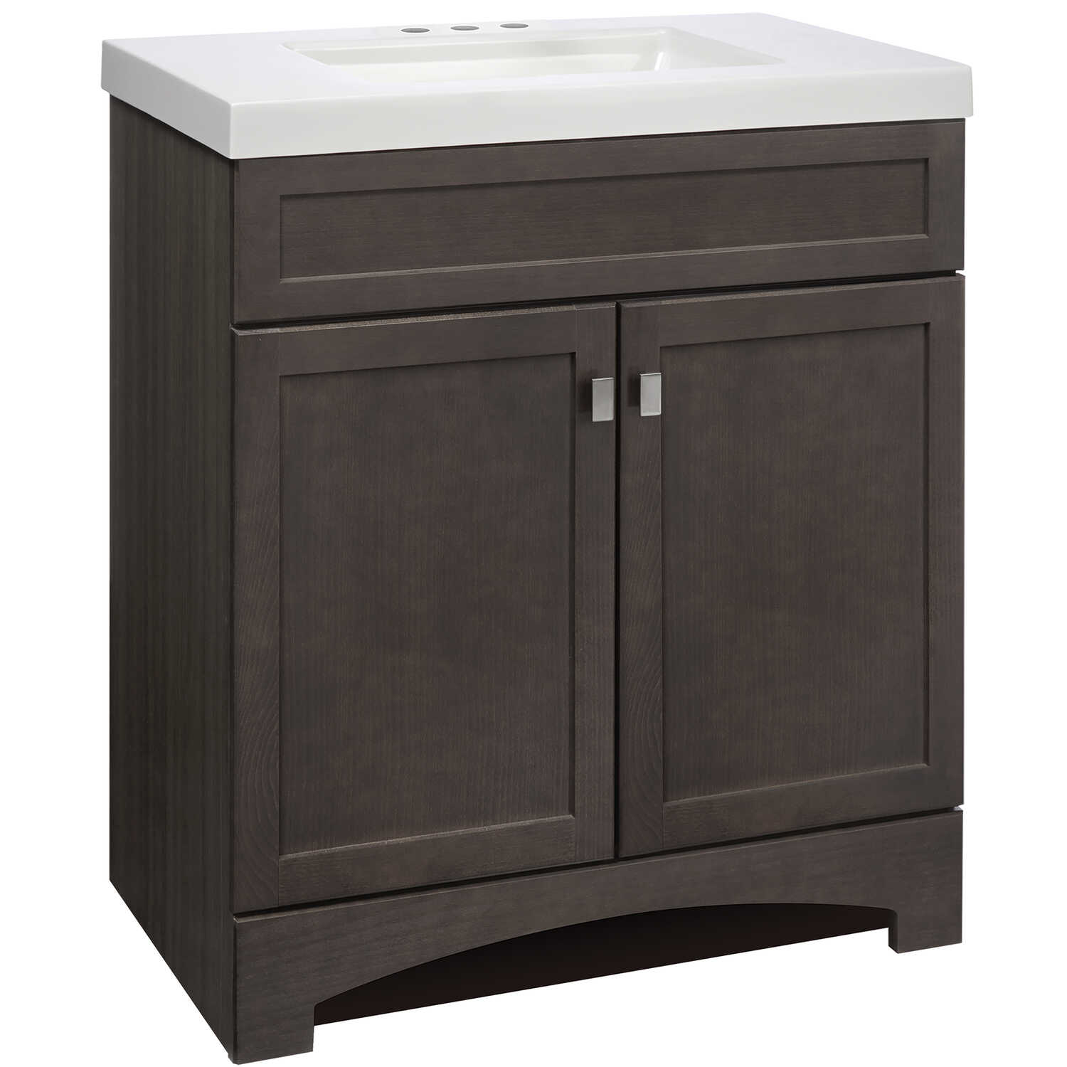 Continental Cabinets  Davison  Single  Bright  Grey  Vanity Combo  30 in. W x 18 in. D x 33-1/2 in.