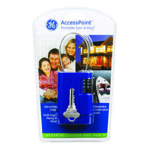 GE  Blue  Plastic/Steel  Key Storage