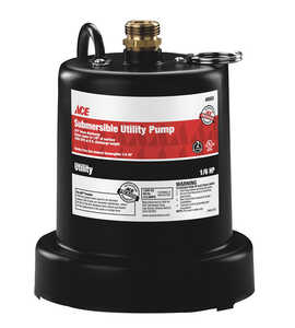 Ace  Wayne  Thermoplastic  Submersible Utility Pump  1/6 hp 950 gph 115 volt