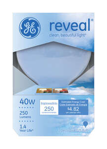 GE Lighting  Reveal  40 watts G25  Incandescent Bulb  250 lumens Soft White  Globe  1 pk