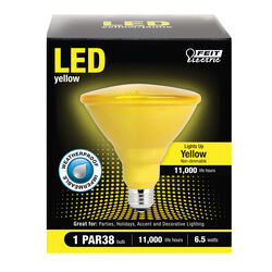 Feit Electric  PAR38  E26 (Medium)  LED Bulb  Yellow  90 Watt Equivalence 1 pk