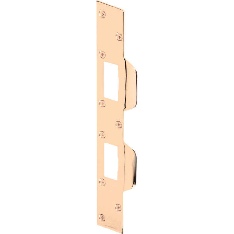 Prime-Line  11 in. H x 1.625 in. L Brass Plated  Steel  Maximum Security Combination Strike