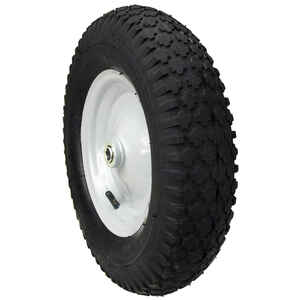 MaxPower  8 in. Dia. x 15 in. Dia. 300 lb. capacity Centered  Wheelbarrow Wheel  Rubber  1 pk