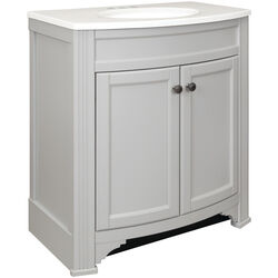 Continental Cabinets  Single  Matte  Grey  Vanity Combo  30 in. W x 18 in. D x 33-1/2 in. H