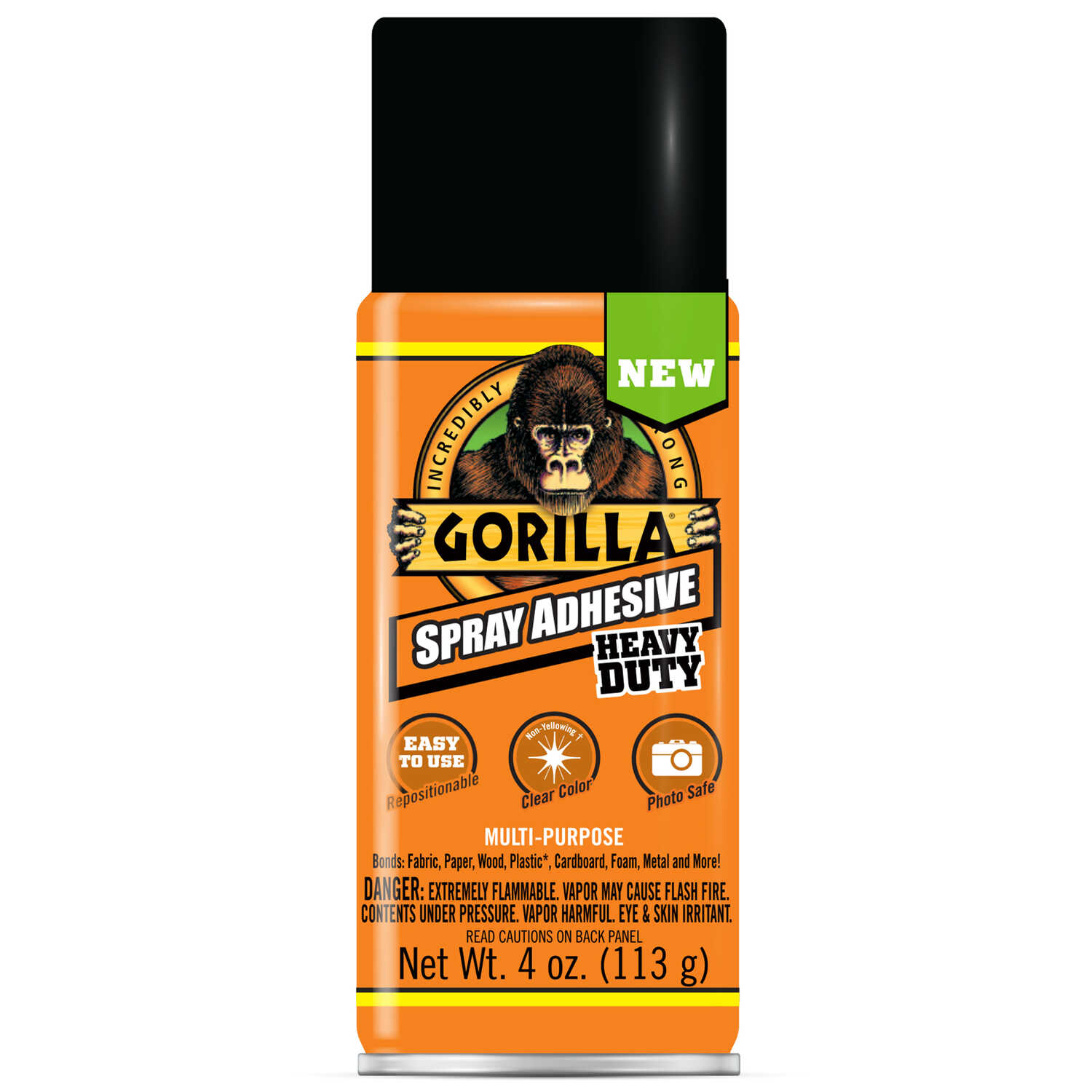 Gorilla  Heavy Duty  Super Strength  Spray Adhesive  4 oz.
