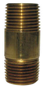JMF  3/4  MPT To MPT  3/4 in. Dia. Brass  Pipe Nipple