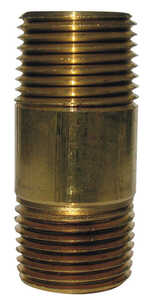 JMF  3/4  MPT To MPT To Nipple  3/4 in. Dia. Red Brass  Pipe Nipple