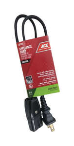 Ace  18/2 HPN  2 ft. L Appliance Cord
