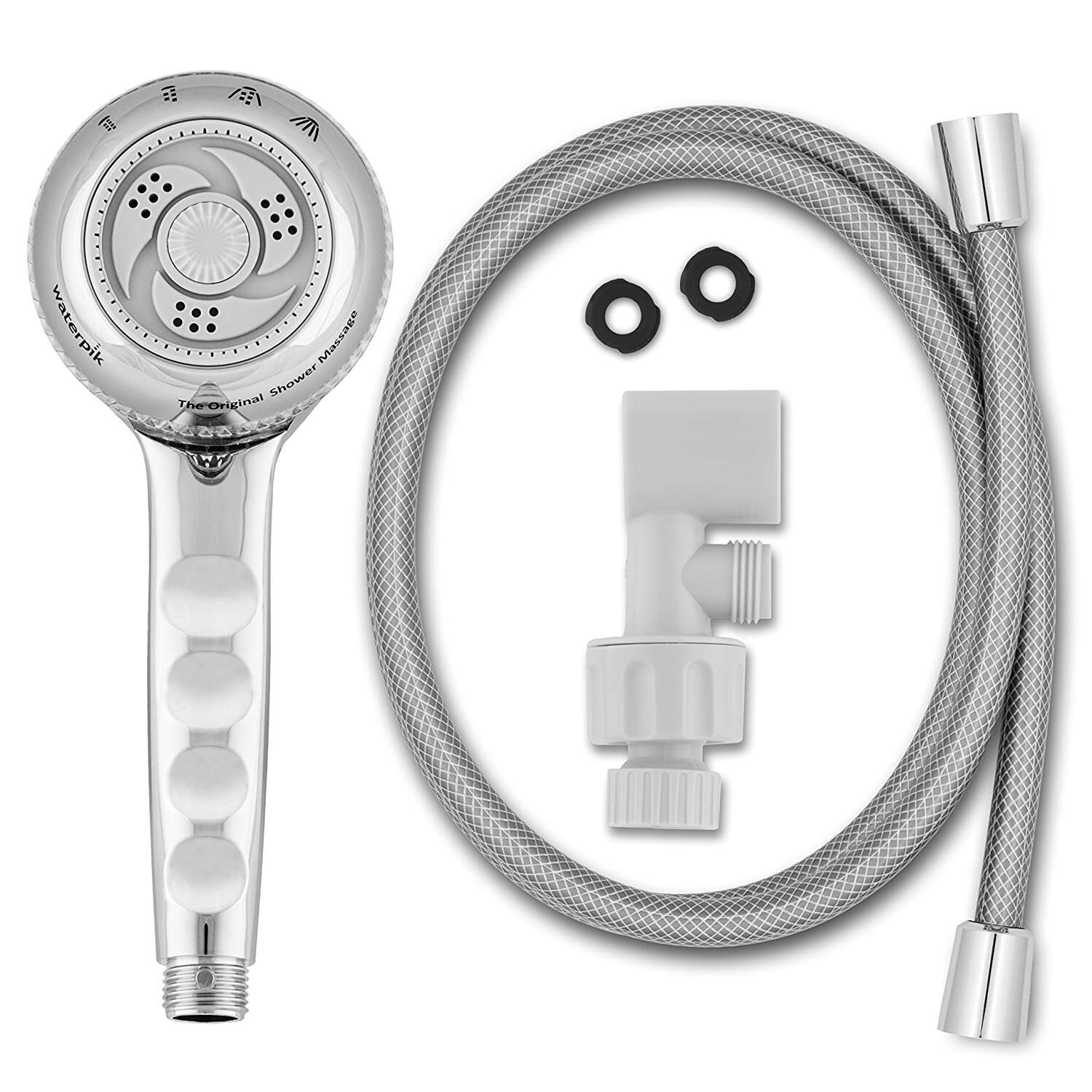 Waterpik  EcoFlow  Chrome  4 settings Showerhead  1.8 gpm