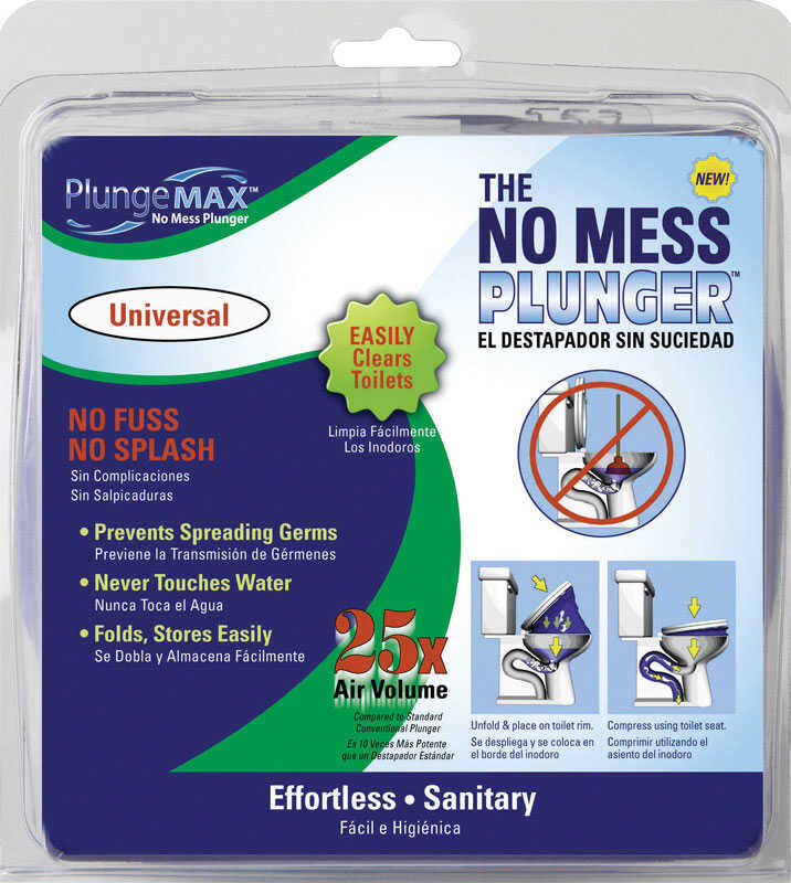 PF WaterWorks  PlungeMAX  No Handle in. L x 24 in. Dia. Toilet Plunger