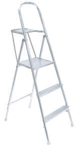 Werner  5 ft. H x 21.5 in. W Aluminum  Type III  200 lb. capacity Platform Ladder