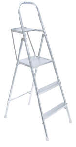 Werner  5 ft. H x 21.5 in. W Aluminum  Platform Ladder  200 lb. Type III