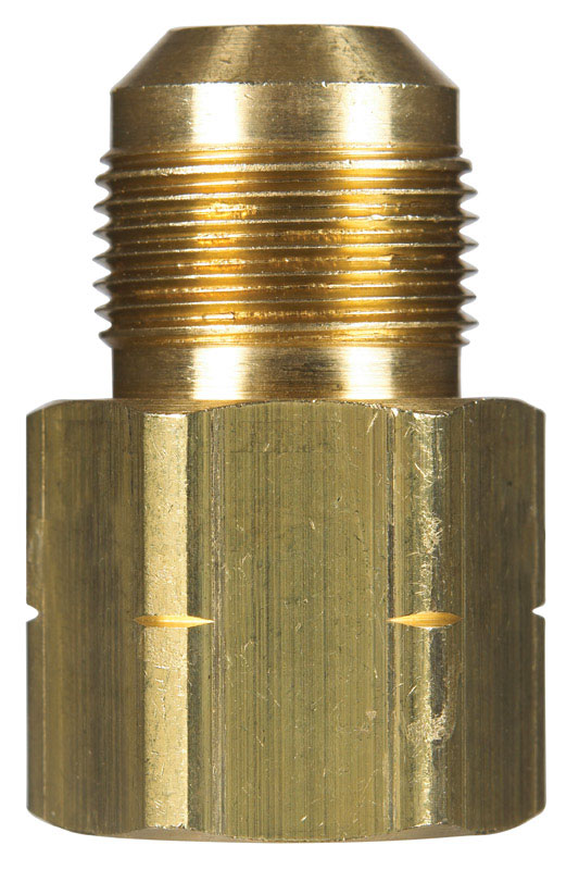 JMF  15/16 in. Flare   x 3/4 in. Dia. Female  Brass  Gas Adapter