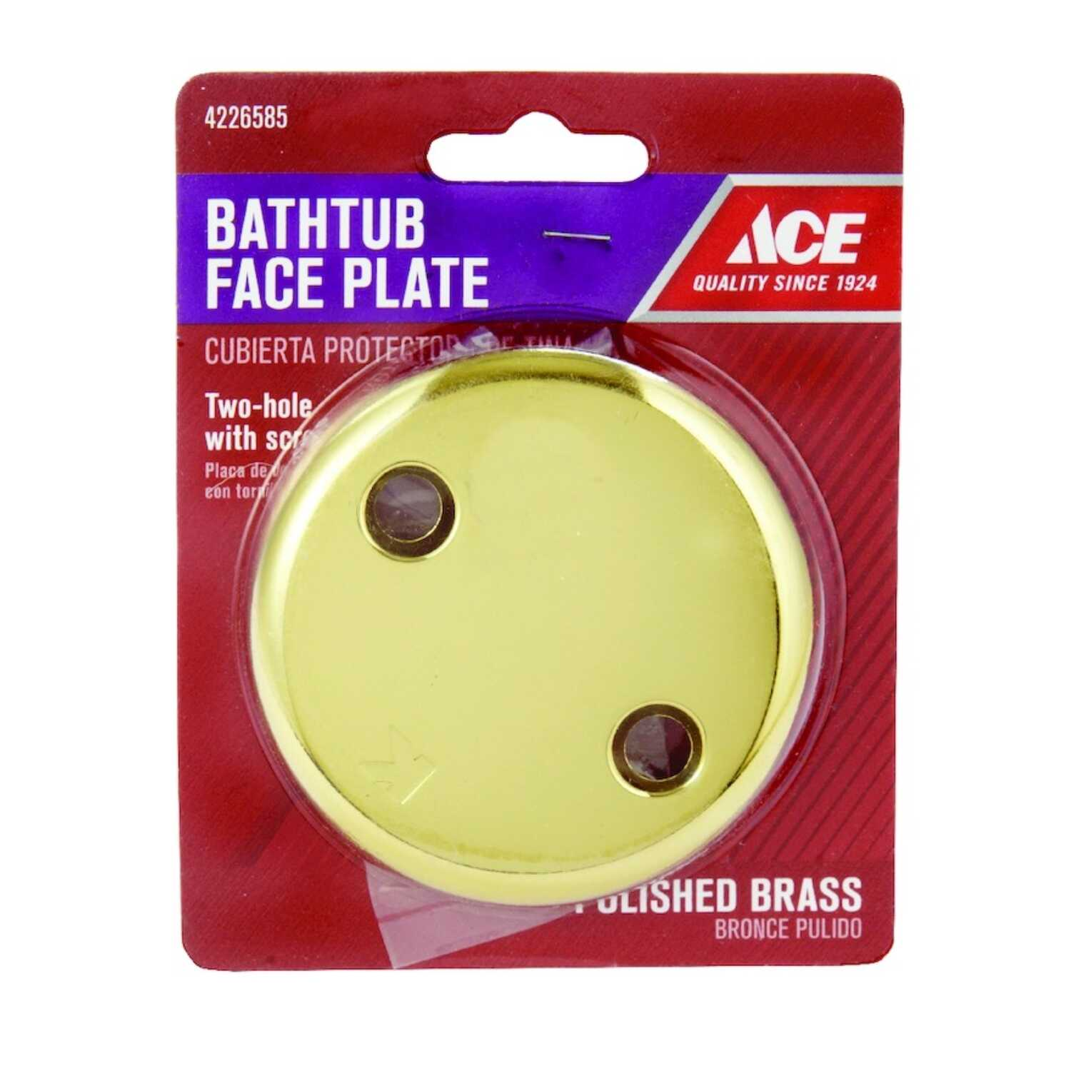 Ace  Yellow  Brass  Round  Face Plate