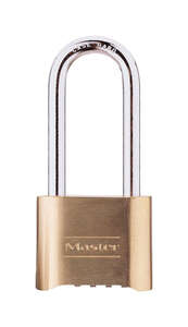 Master Lock  4-1/8 in. H x 2 in. W Steel  Resettable Combination  Padlock  1 pk