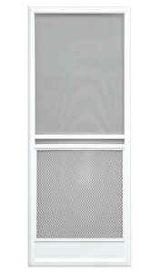Precision  Capri Series  79-3/4 in. H x 35-1/4 in. W Capri  White  Steel  Screen Door