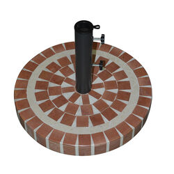Bond  Multicolored  Cement  Umbrella Base  20 in. W x 17 in. H