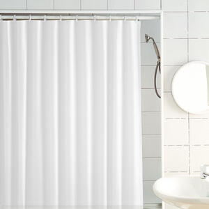 Excell  70 in. H x 72 in. W Frost  Solid  Shower Curtain  PEVA