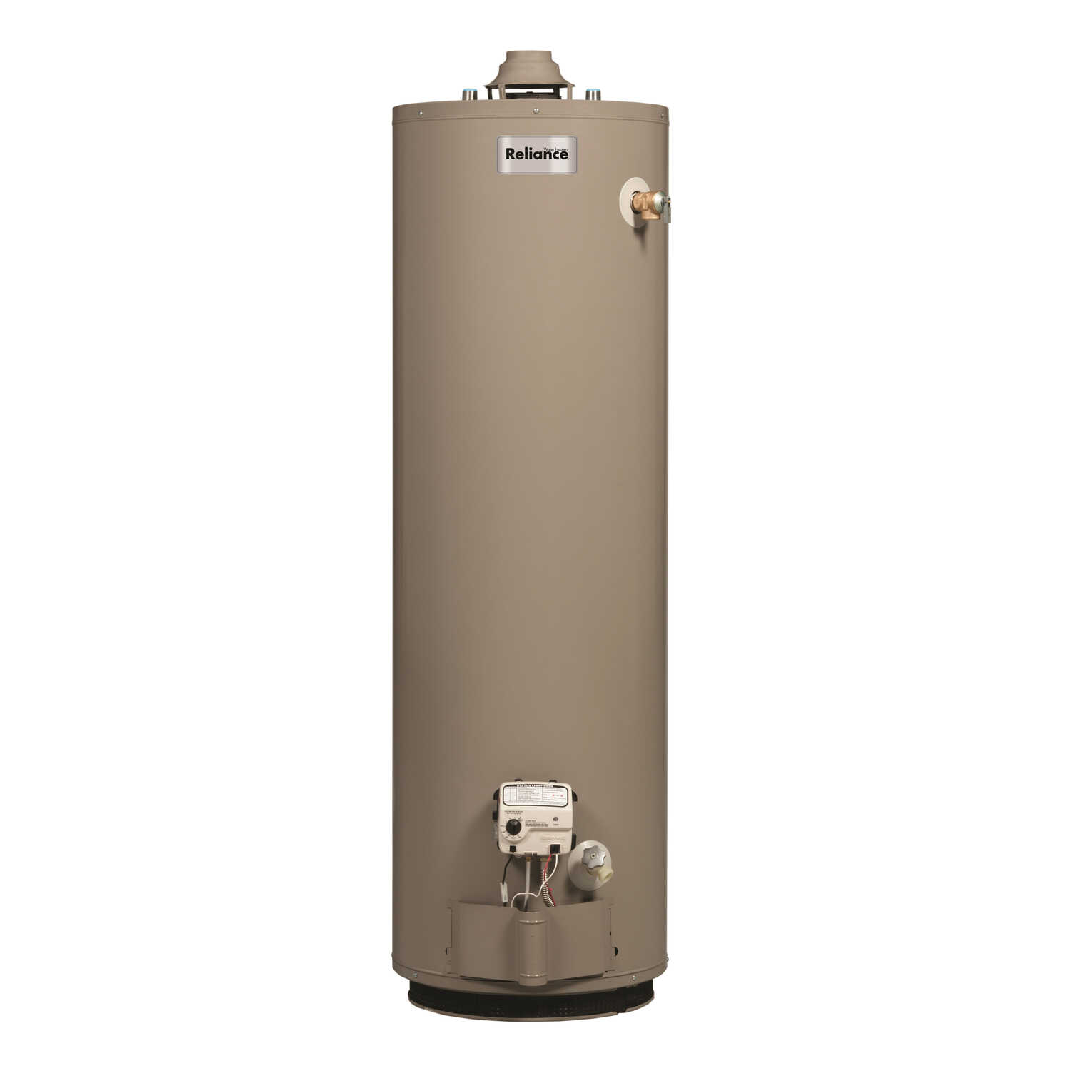 Reliance  Natural Gas  Water Heater  62 in. H x 20 in. L x 20 in. W 40 gal.