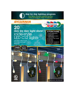 Sylvania  Day by Day  LED  Light Set  Color Changing  6 ft. 20 lights