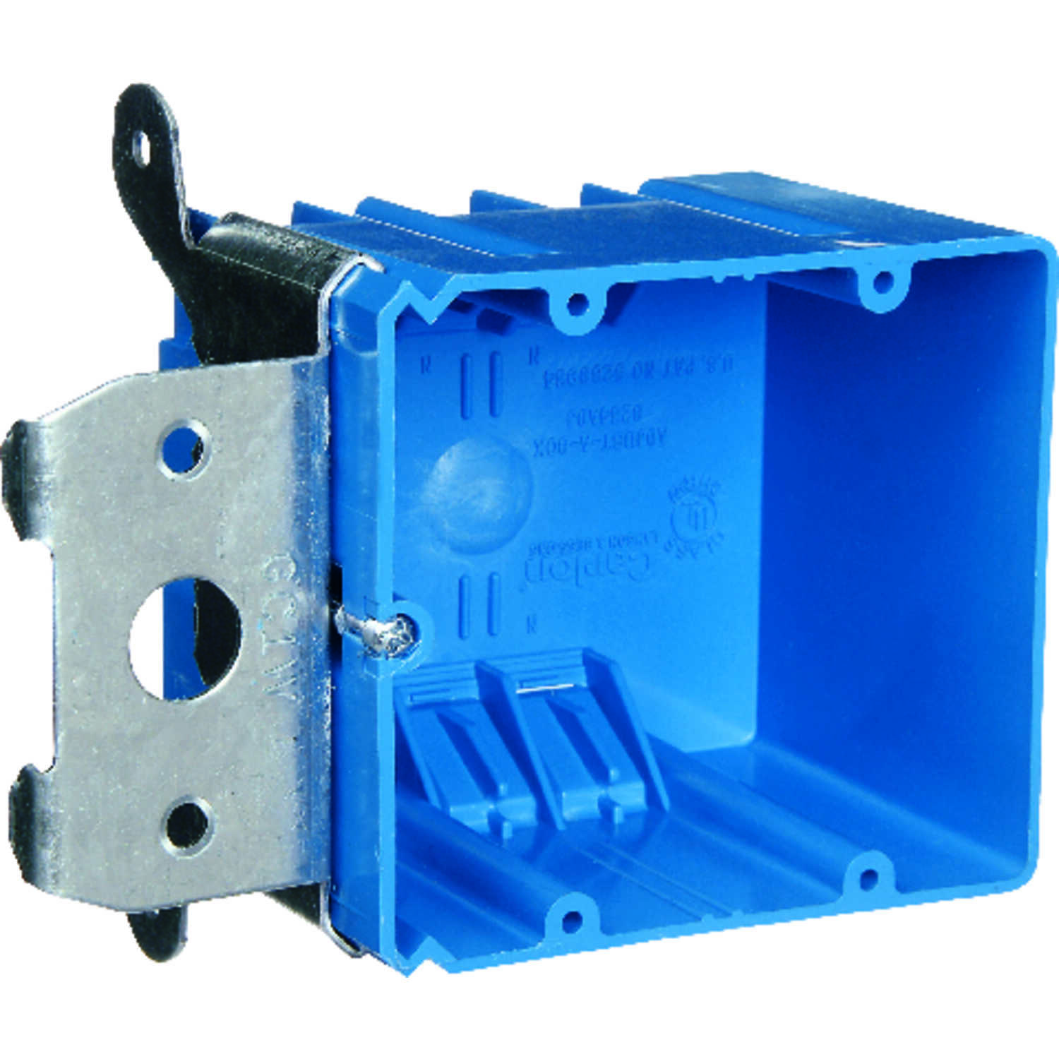 Carlon  3-5/8 in. Rectangle  2 gang Outlet Box  Blue  PVC  2 Gang