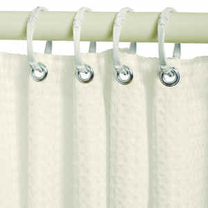 Zenna Home  72 in. H x 70 in. W Waffle  Shower Curtain Liner  Taupe