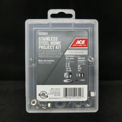Ace  6 8 10 1/4 in. Stainless Steel  SAE  Nuts and Washers Kit  145 pk
