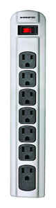 Monster Cable  Just Power It Up  4 ft. L 7 outlets Power Strip  Gray