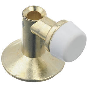 Ace  1.125 in. H x 1-1/4 in. W Metal  Gold  Bright  Door Stop  Mounts to floor
