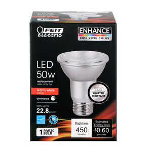 FEIT Electric  7 watts PAR20  LED Bulb  Warm White  Floodlight  50 Watt Equivalence 450 lumens