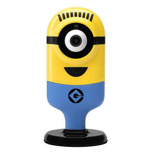 Minion Flexi Cam  Carl Delighted  Plug-in  Indoor  Yellow  Security Camera