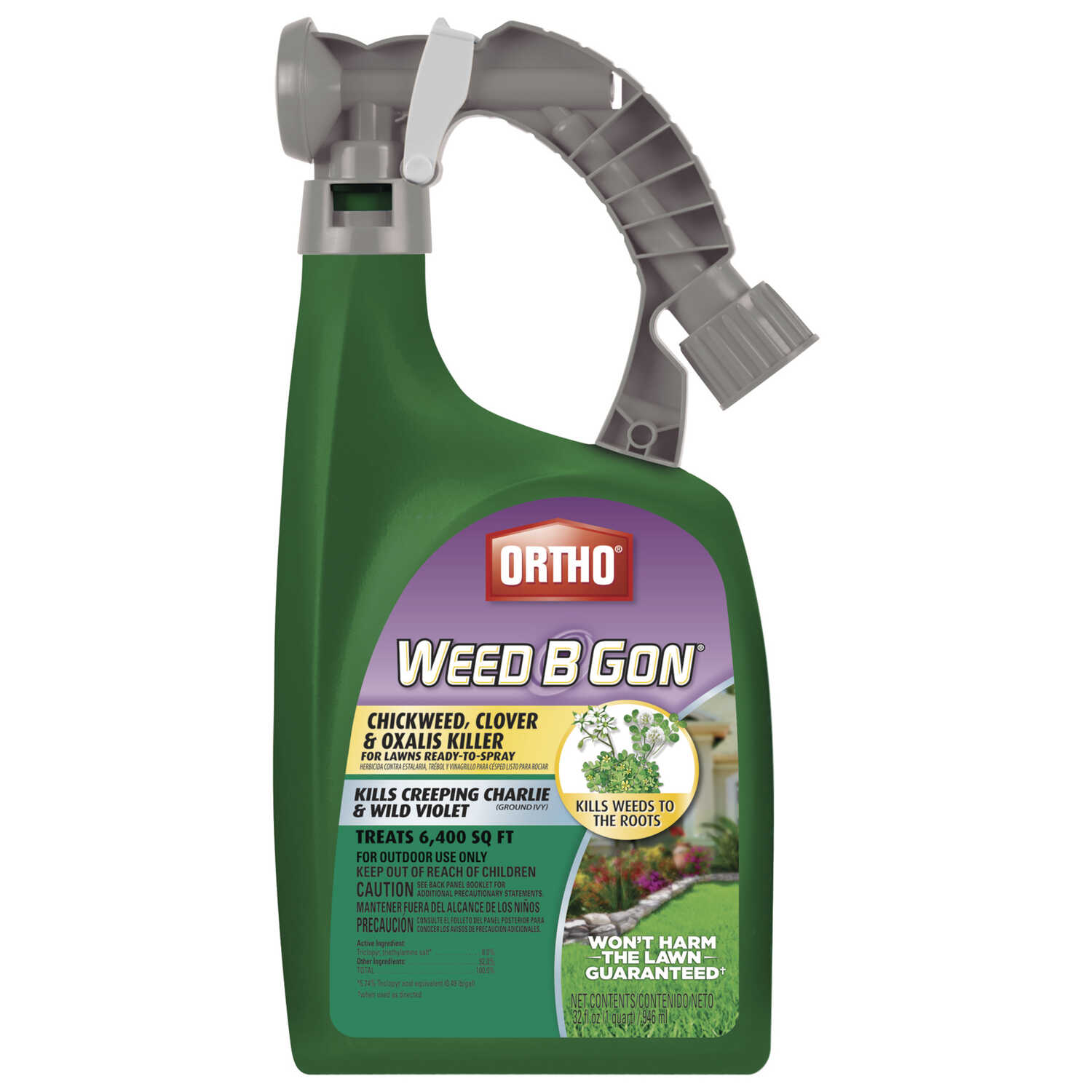Ortho  Weed B Gon  RTS Hose-End Concentrate  Weed Control for Lawns  32 oz.