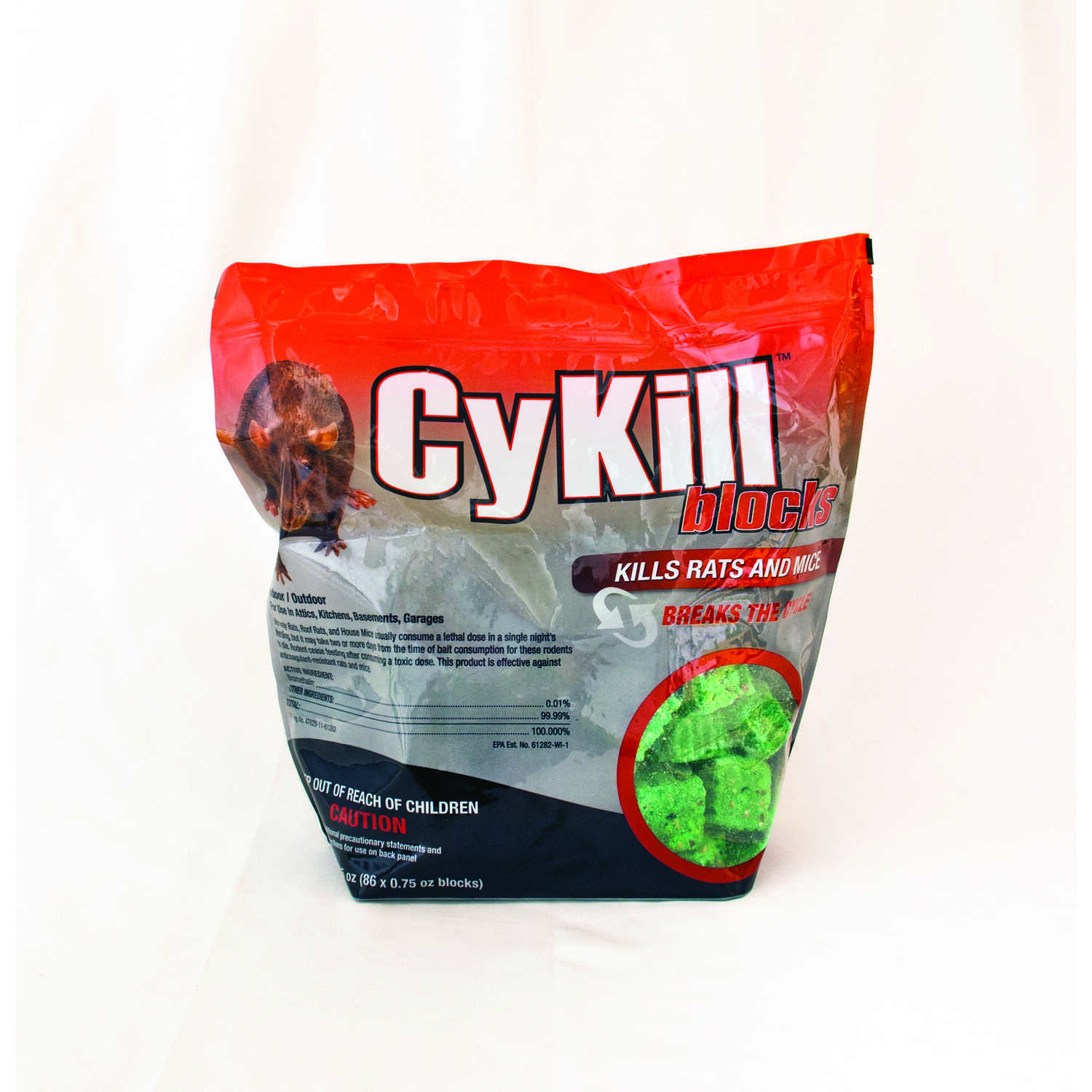 Cykill  Small  Bait Bar  For Mice/Rats 86 pk