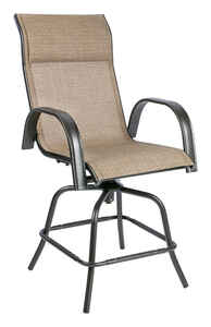 Living Accents  Swivel  Dark Brown  Steel with Sling Fabric  Newport  Chair