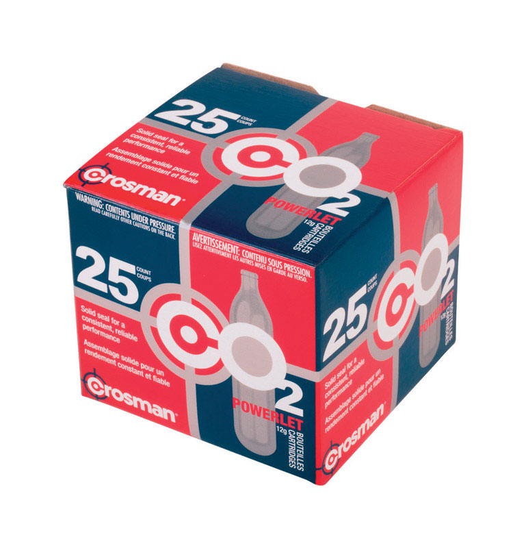 Crosman  CO2 Cartridge  25 Count