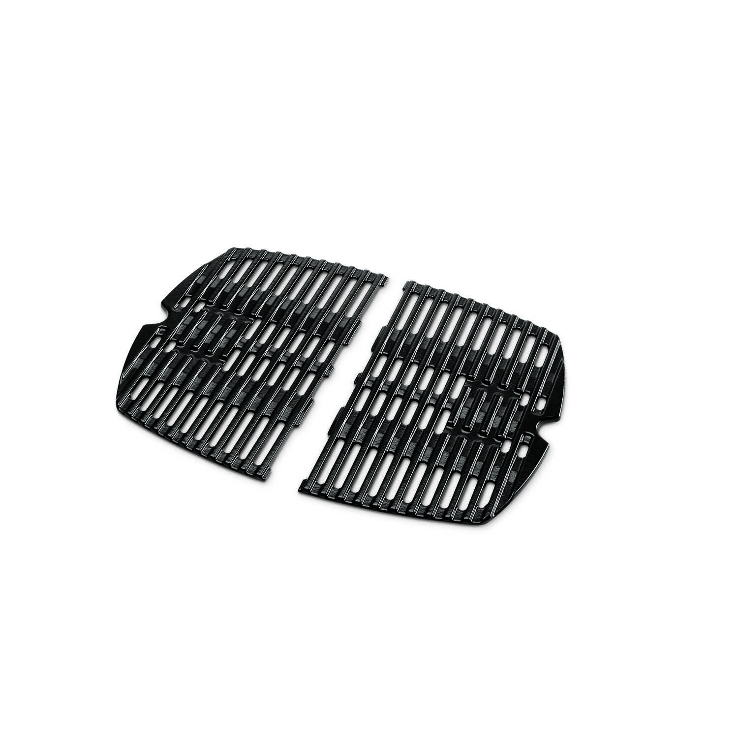 Weber  Q100/1000  Cast Iron/Porcelain  Grill Cooking Grate  17 in. L x 12-3/4 in. W