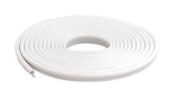 M-D White Vinyl Gasket Weatherstrip For Doors and Windows 17 ft. L x 1/2 in.