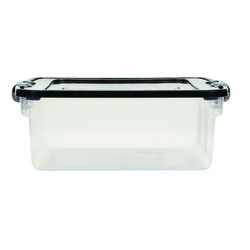 Homz Latching 6-1/8 in. H x 16 1/4 in. W x 13 in. D Stackable Storage Box