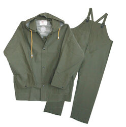 Boss  Green  PVC-Coated Polyester  Rain Suit  L