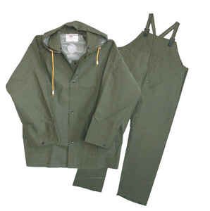 Boss  Green  PVC-Coated Polyester  Rain Suit
