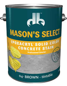 Mason's Select  Solid  Brown  Base 4  Acrylic/Epoxy/Latex  Epoxacryl Concrete Stain  1 gal.