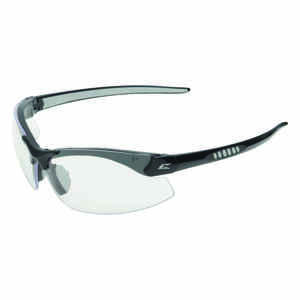 Edge Eyewear  Safety Glasses  Clear Lens Black Frame 1 pc.
