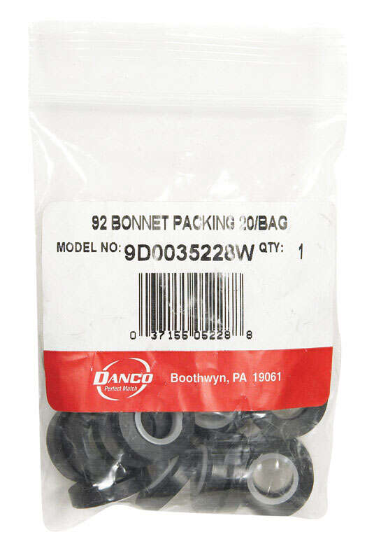 Danco  1/4 in. Dia. x 3/4 in. Dia. Rubber  Bonnet Packing