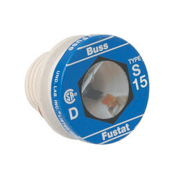 Bussmann 15 amps Dual Element Tamper Proof Plug 4 pk