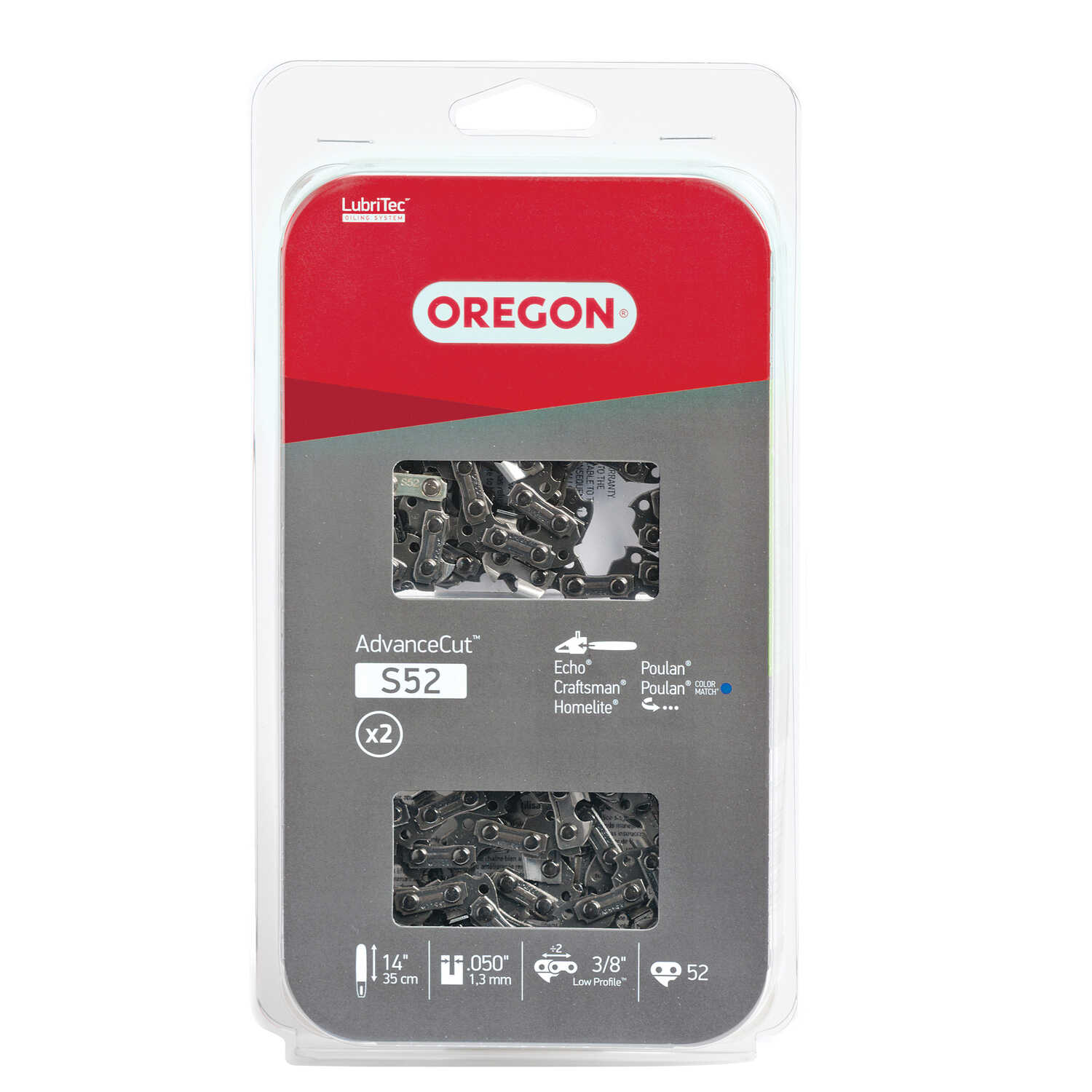Oregon  Advance Cut  14 in. 52 links Chainsaw Chain